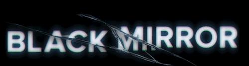 The Black Mirror TV series logo