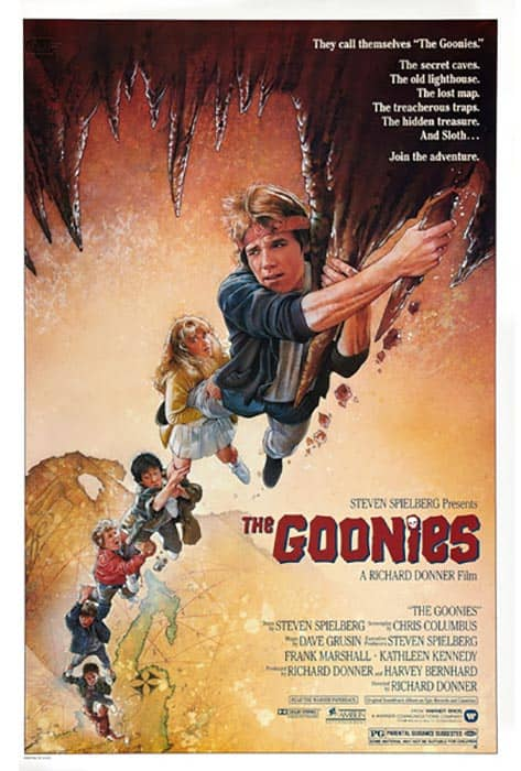 The Goonies screenplay and script movie poster