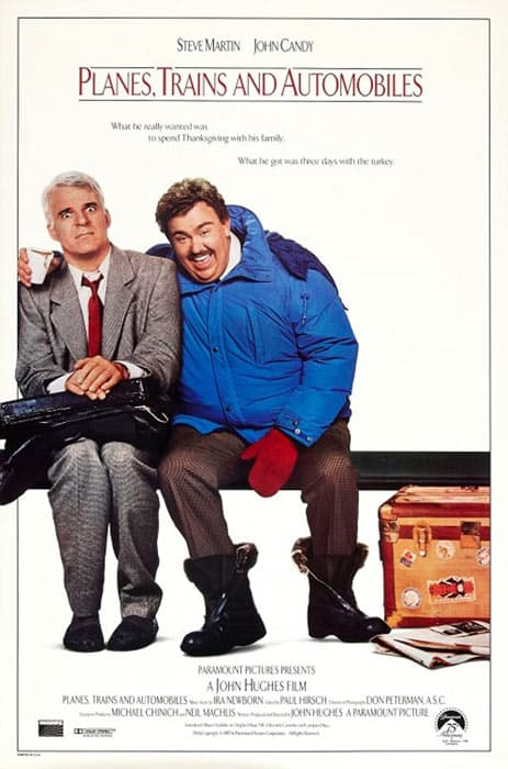 The Planes Trains and Automobiles movie poster